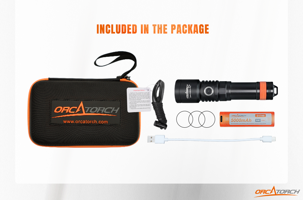 Orcatorch D710 Dive Light Package